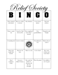 Relief Society Bingo Cards
