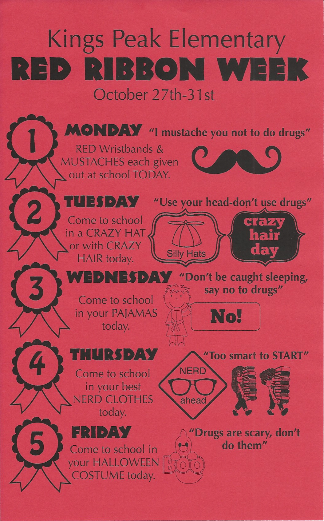 image about Red Ribbon Week Printable Activities titled Purple Ribbon 7 days Say NO in direction of medicine! smileifyourehappy