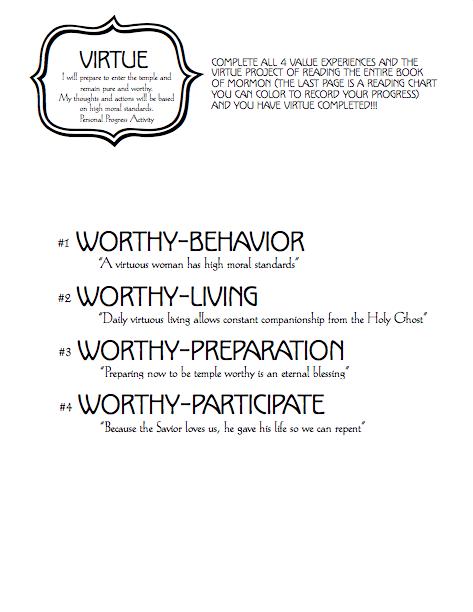 Virtue Cover Worksheet