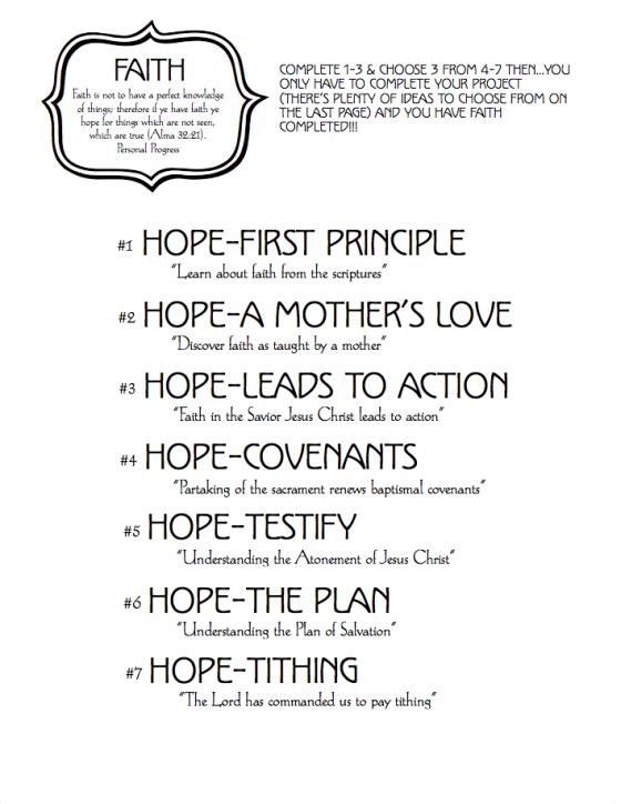 Faith Cover Worksheet