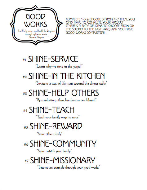 Good Works Cover Worksheet