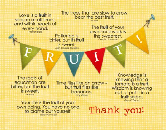 Teacher Appreciation -FRUIT