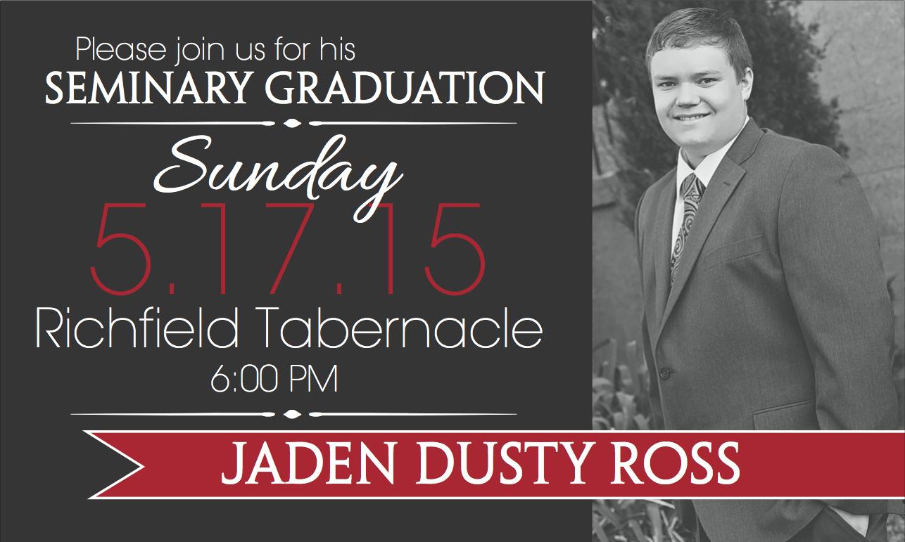 LDS Mission/High School Graduation Announcements