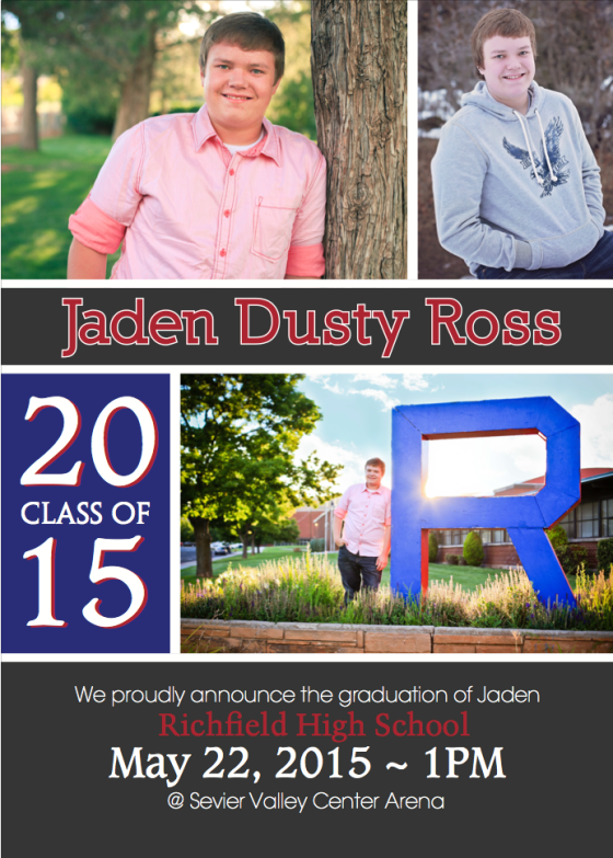 Jaden High School Invitation