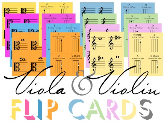 Viola & Violin Flip Charts