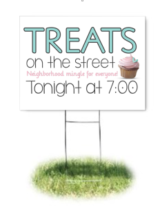 Treats on the Street-Lawn Sign