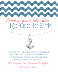 Secure your Anchor, Refuse to Sink Image