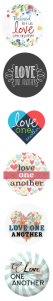 6 Original Love One Another Logos