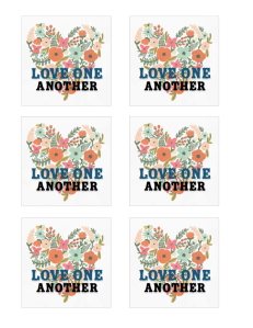 Love One Another 3 inch square LOGO 2 image