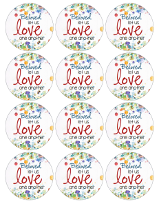 Love One Another 2.5 inch circle LOGO 1 image