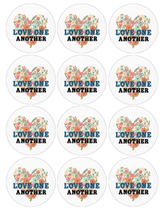 Love One Another 2.5 inch circle LOGO 2 image