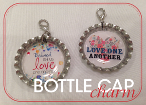 Love One Another Bottle Cap Charm