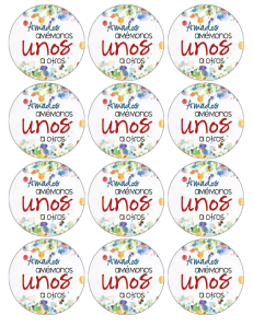 Love One Another 2.5 inch circle LOGO 1 SPANISH image