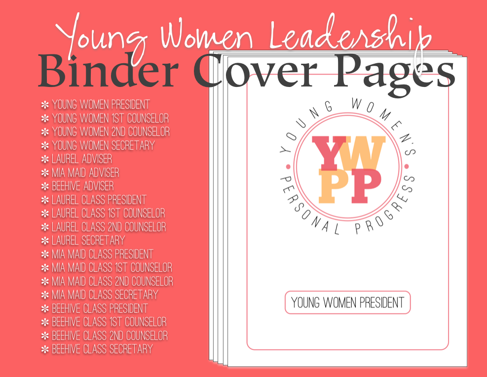 cover page for binder