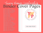 Young Women Leadership Binder Cover Page Image