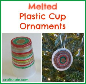 melted cup Christmas ornament